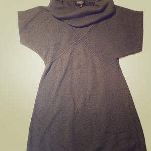 Soft warm cowl neck sweater dress. Dark gray